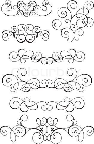 Simple Filigree Scroll Designs