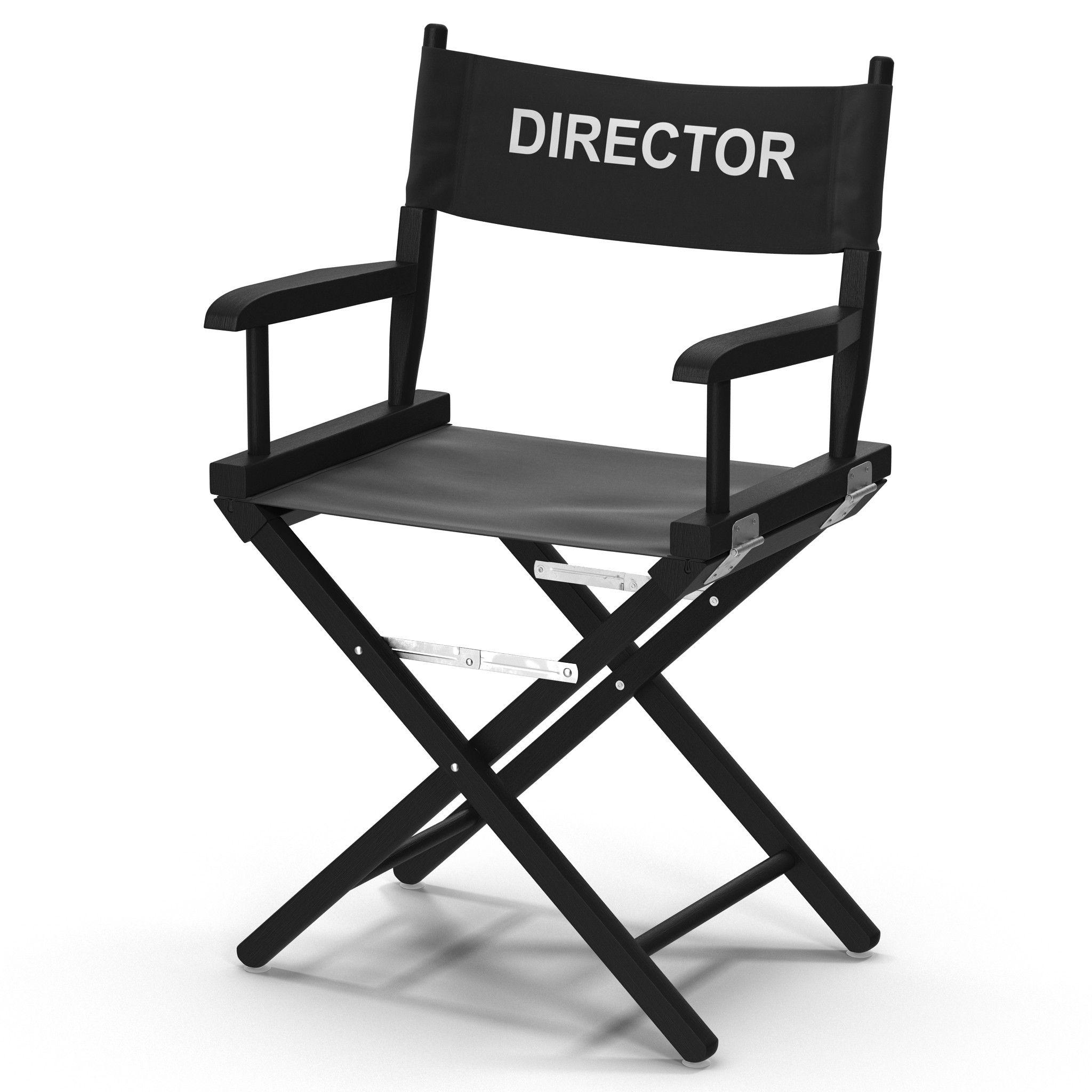 3D Director Chair Black Model 3D Model 3D Modeling