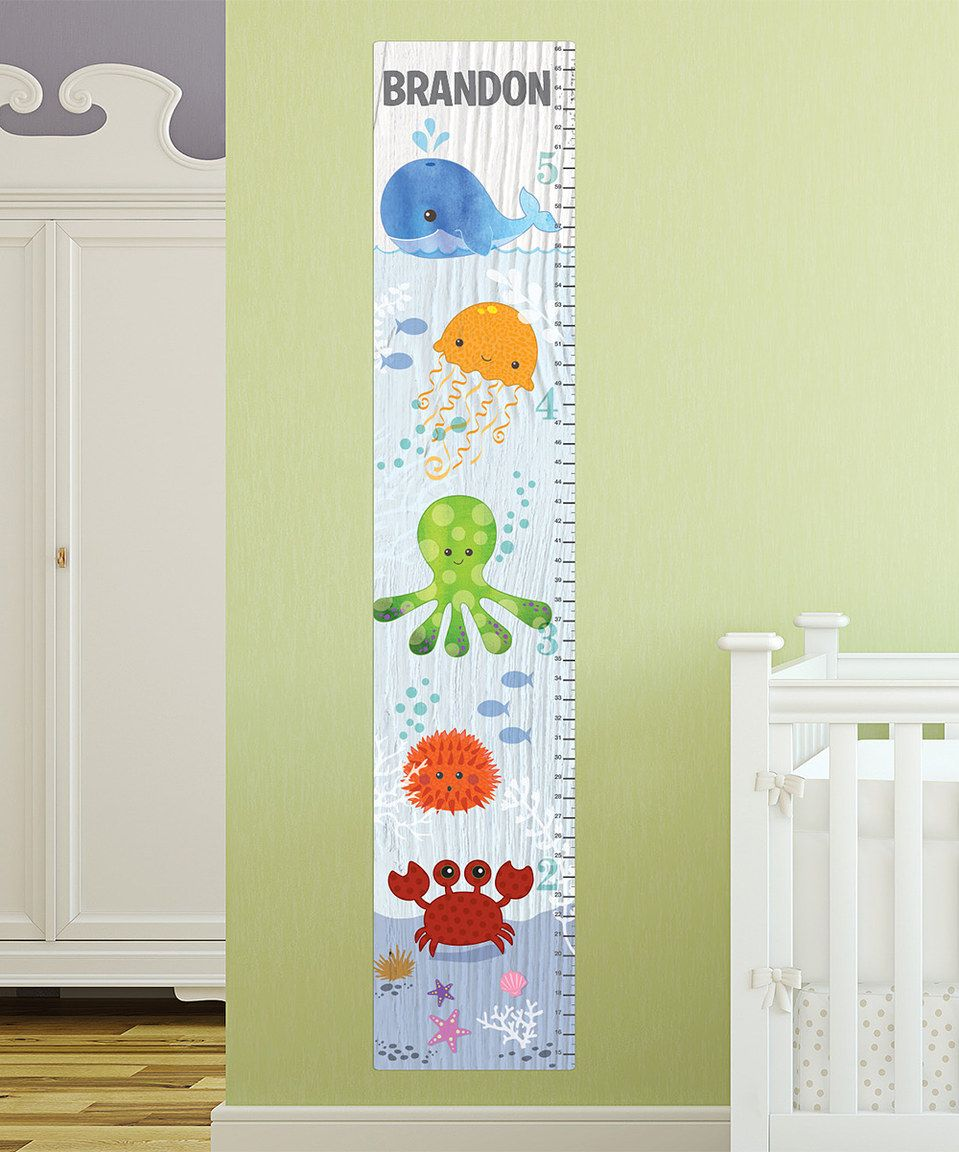 Under The Sea Removable Sticky Canvas Personalized Growth Chart by ...