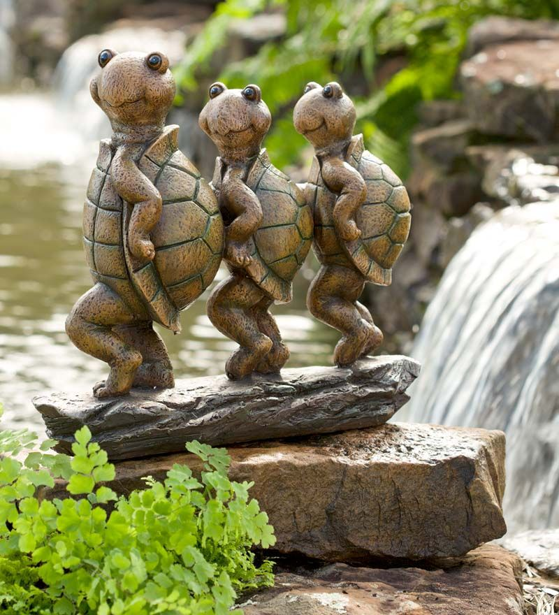 Can Can Dancing Turtles Lawn Porch Yard Art Garden Statue Outdoor Home Decor