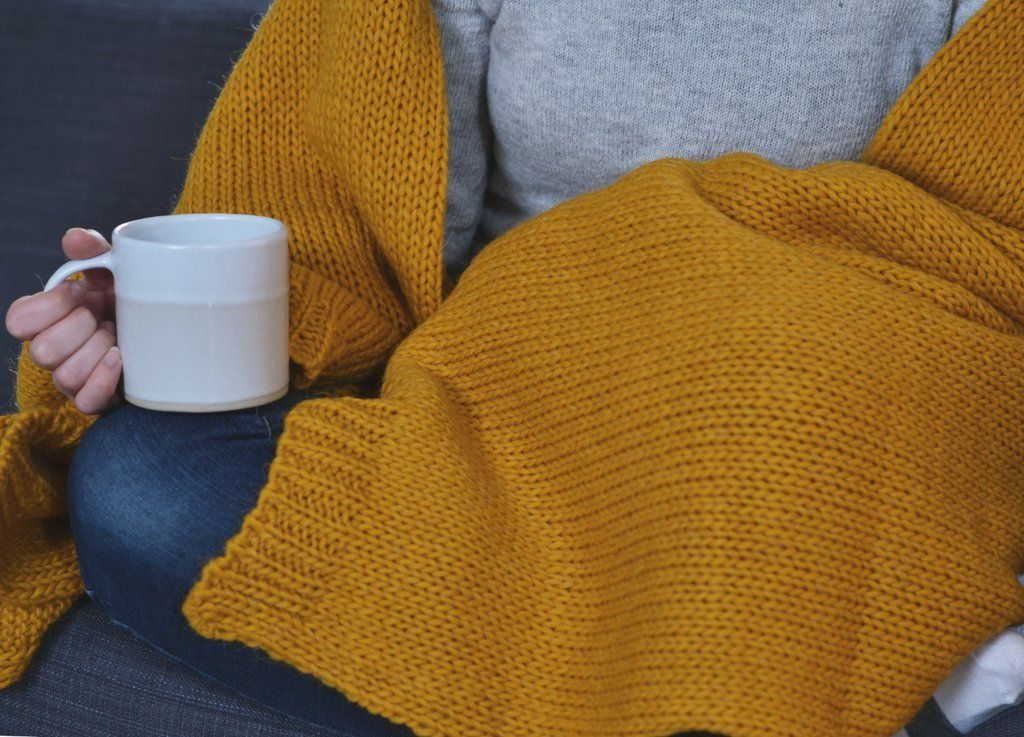 1990e80dff Mustard Knitted Alpaca Throw. Mustard Knitted Alpaca Throw - The British  Blanket Company