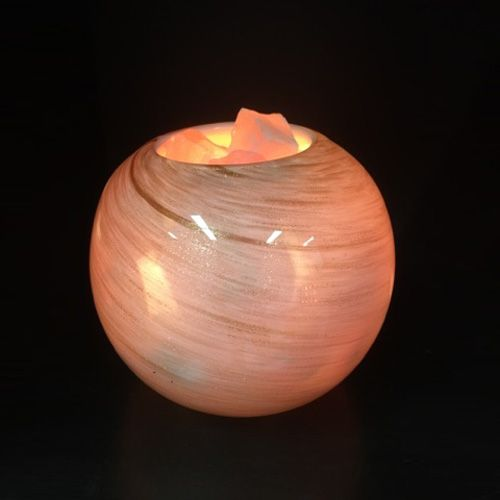 Salt Lamps Near Me Gorgeous $50 Glass Himalayan Salt Lamp  Golden Swirl  Buy Online At Inspire Review