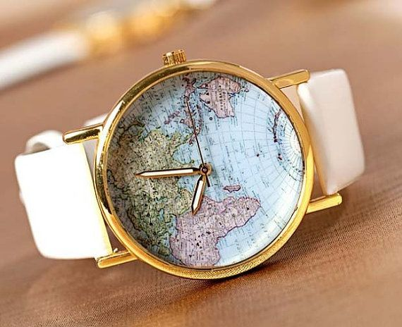 Watch World Map Watch Mans watches Woman watches by IShowIStyle, $7.99