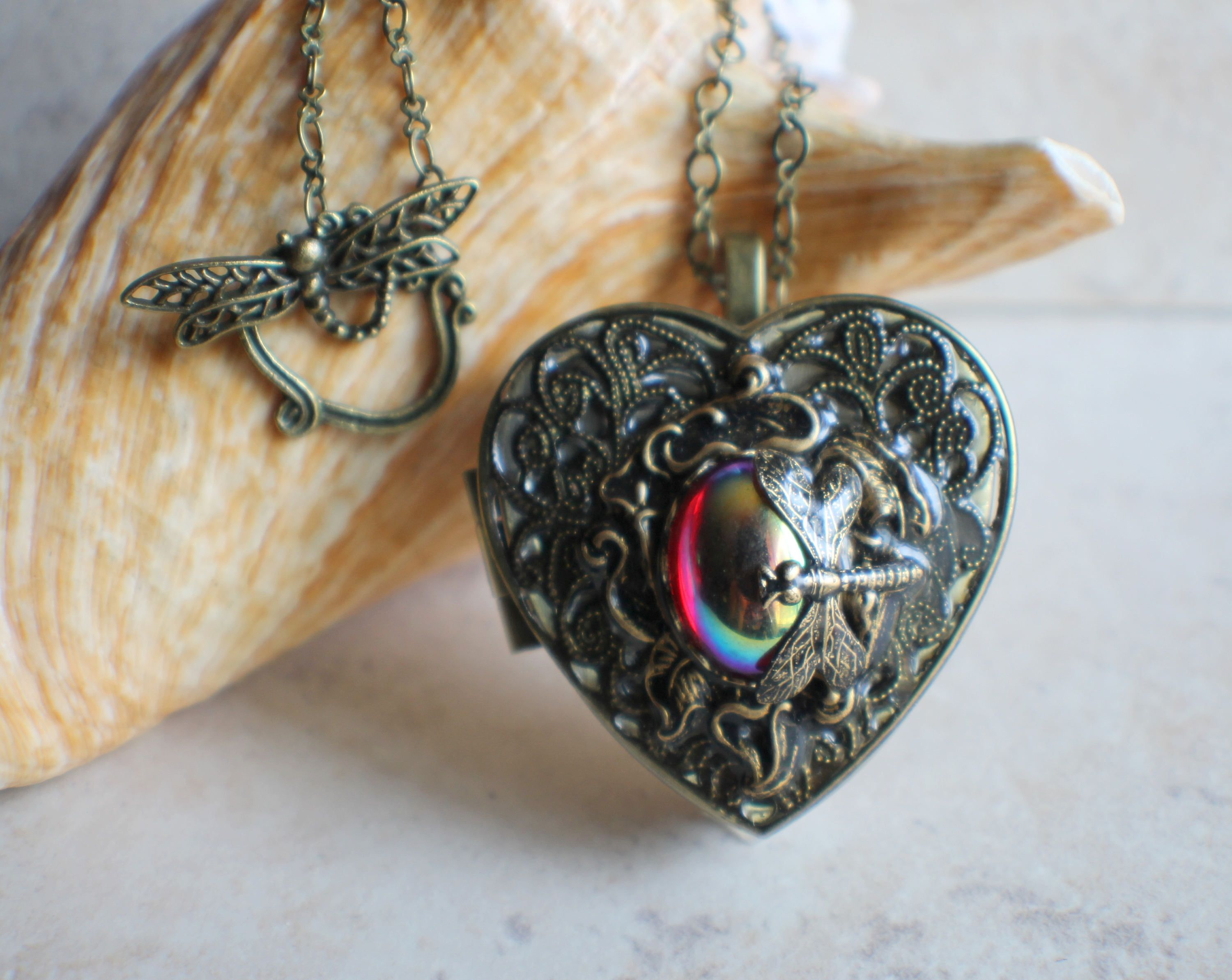 Dragonfly music box locket heart music box pendant music box dragonfly music box locket heart music box pendant music box jewelry musical photo aloadofball