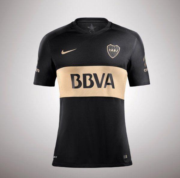 0197bb1957 Tercer playera de Boca Juniors negro con dorado 2016