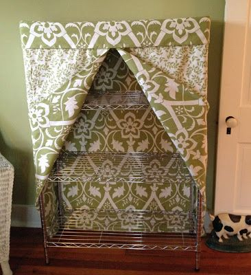 Excellent Fabric Cover For A Wire Shelving Unit Crafty Crafts In Download Free Architecture Designs Embacsunscenecom