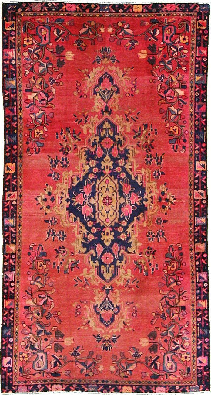Pink 5' 1 x 9' 5 Hamedan Persian Rug | Persian Rugs | eSaleRugs