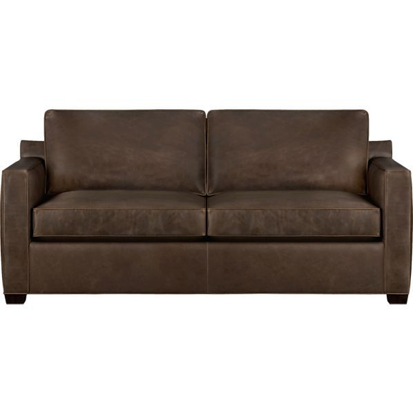 Best Davis Leather Queen Sleeper Sofa In Chairs Crate And 640 x 480
