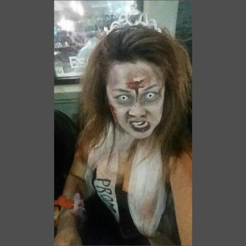 Zombie makeup prom queen