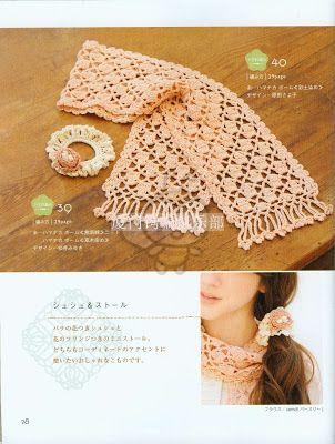 crochet , patrones: bufanda | Chal , bufandas gorros, sombreros ...
