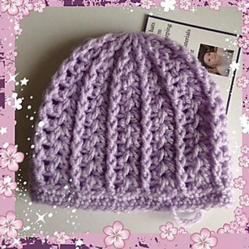 b05614459 Ravelry: Girly Preemie/Newborn Hat pattern by Julee Reeves | Crochet ...