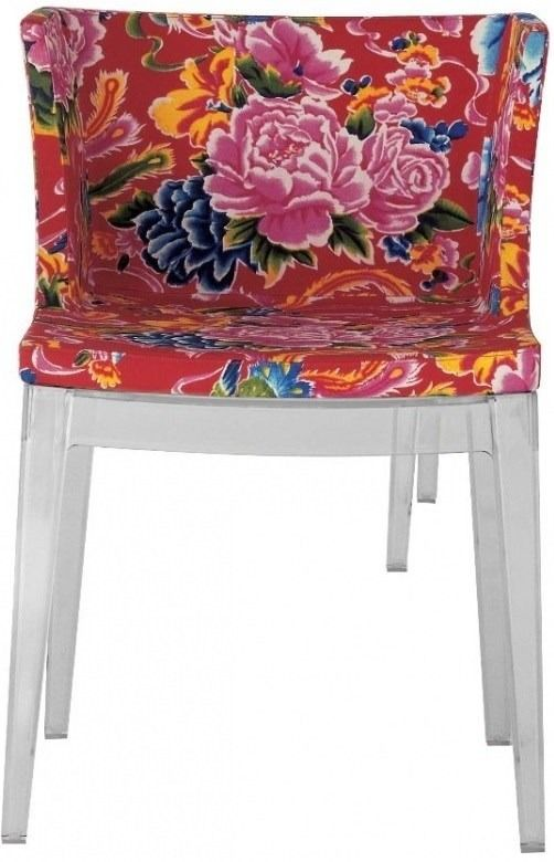 cadeira mademoiselle - floral  vermelho