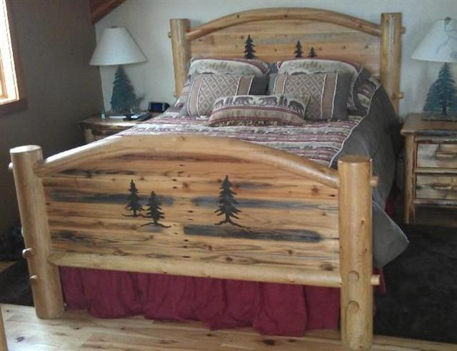 Arched Custom Barnwood Bedroom Collection   Rustic Bedroom ...