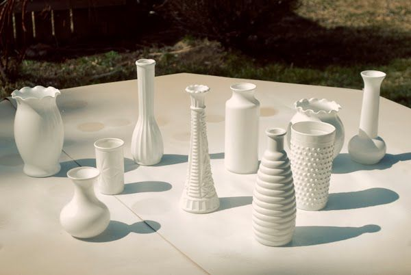 Milk glass vases Collections Pinterest Milk glass, Shelving