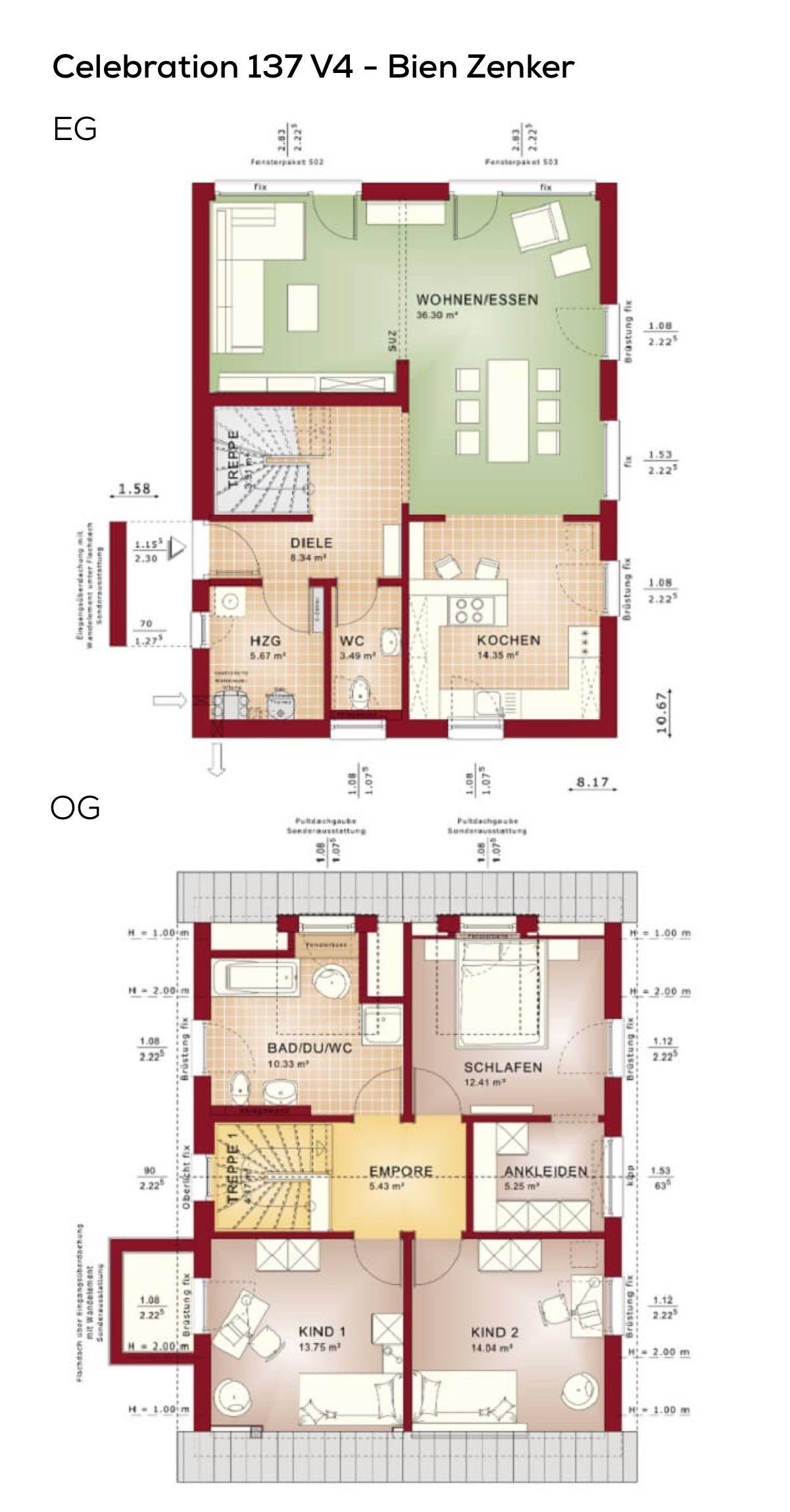 Haus grundriss l nglich mit satteldach architektur gaube for Grundriss einfamilienhaus 2 vollgeschosse