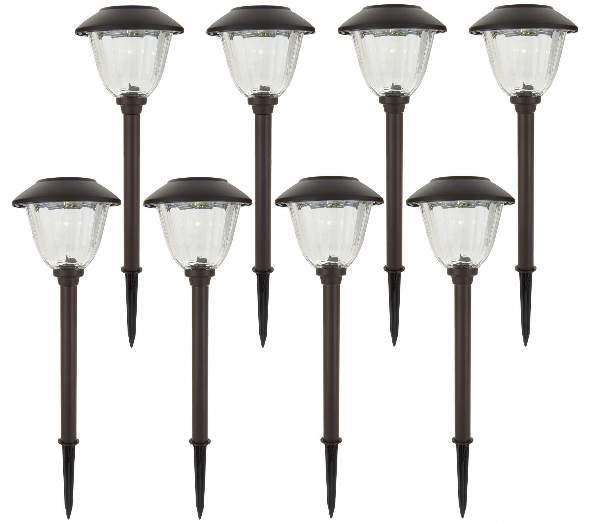 Energizer 8 Piece Solar Landscape Light Set Page 1 Qvc Com Howtogetridofyourbackpain Landscape Lighting Design Landscape Lighting Backyard Lighting