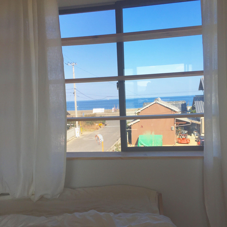 *寝室からの風景* 海の見える寝室♪ | 風景, インテリア, 海