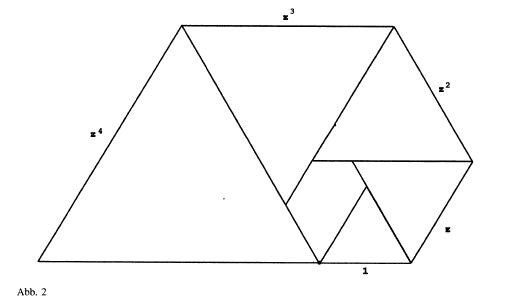 Triangled Equilateral Triangles Fibonacci Hexagon Triangle