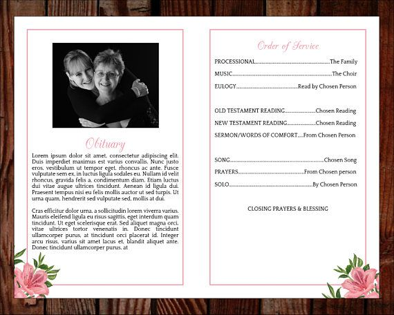 Father Funeral Program Template Elegant Monogram Style Memorial