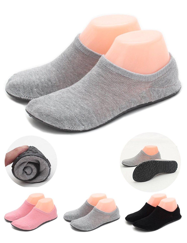 Women Slipper Socks Warm Thick Home Shoes Socks With Soles Rubber Bottom Non  Slip Fun Wear - Thin Grey - CH18CHX9W8S | Womens slippers, Sock shoes,  Footwear design women