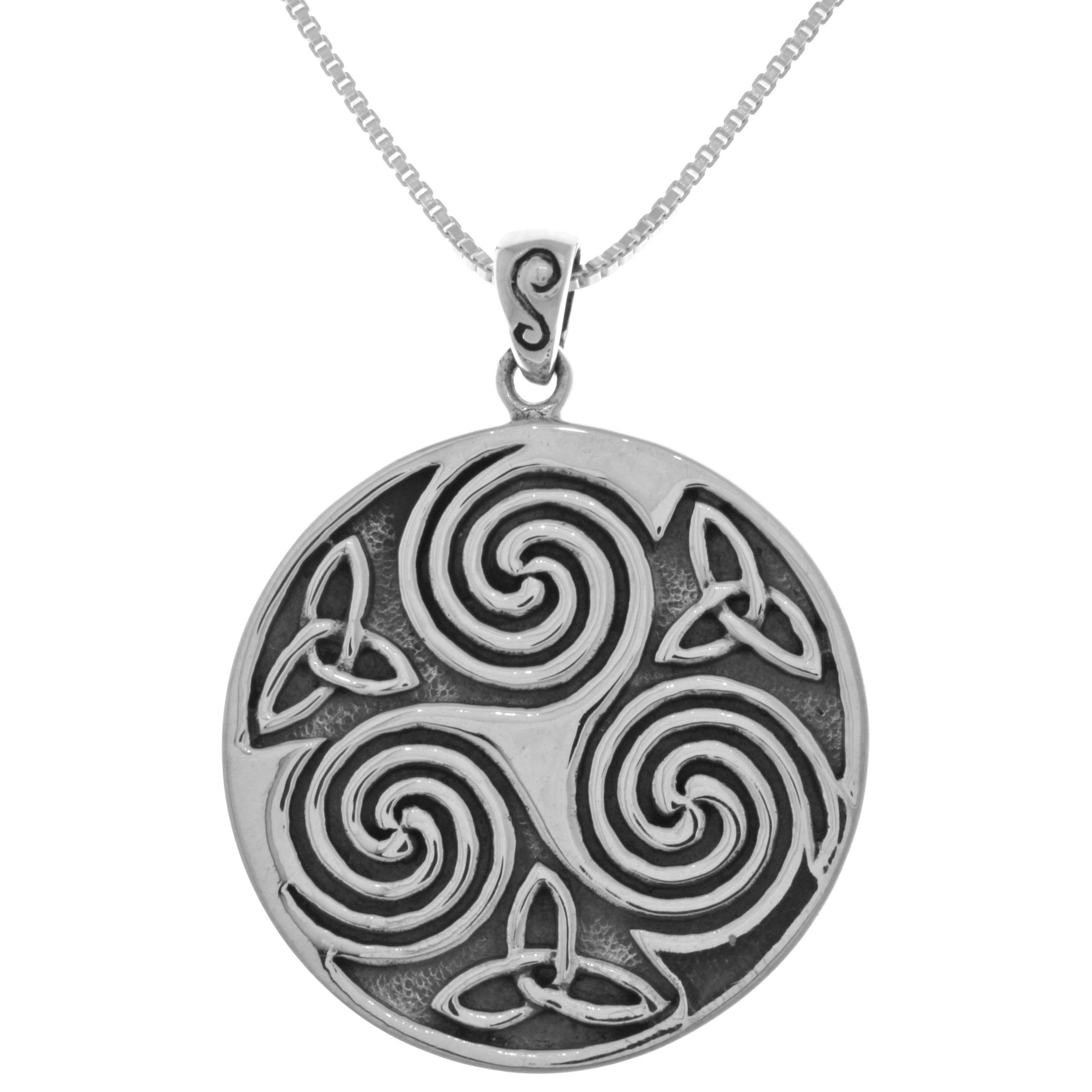 Carolina glamour collection sterling silver large celtic triskelion