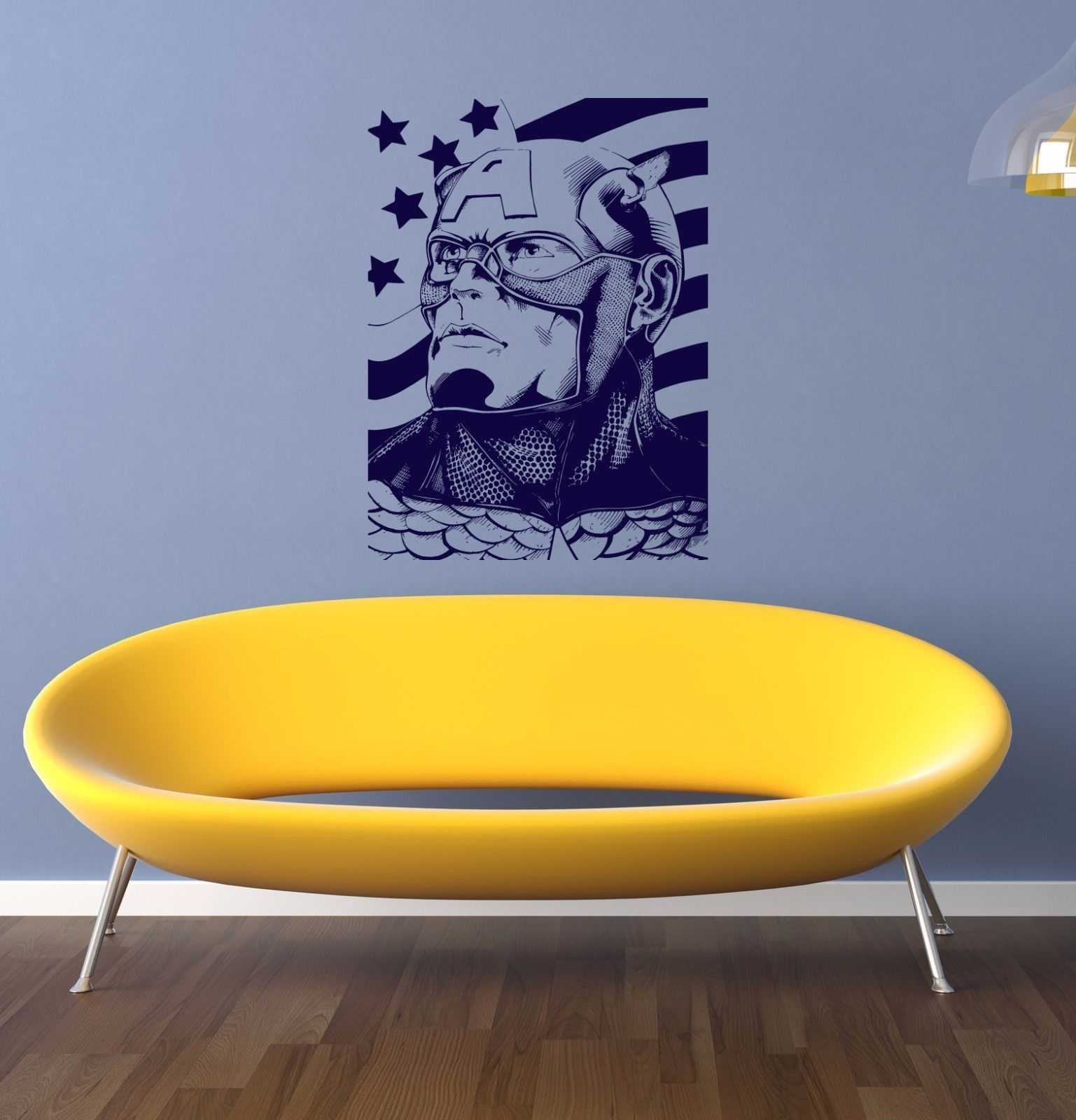 Captain America decal Superheroes stickers Vinyl Stylish Wall Art ...