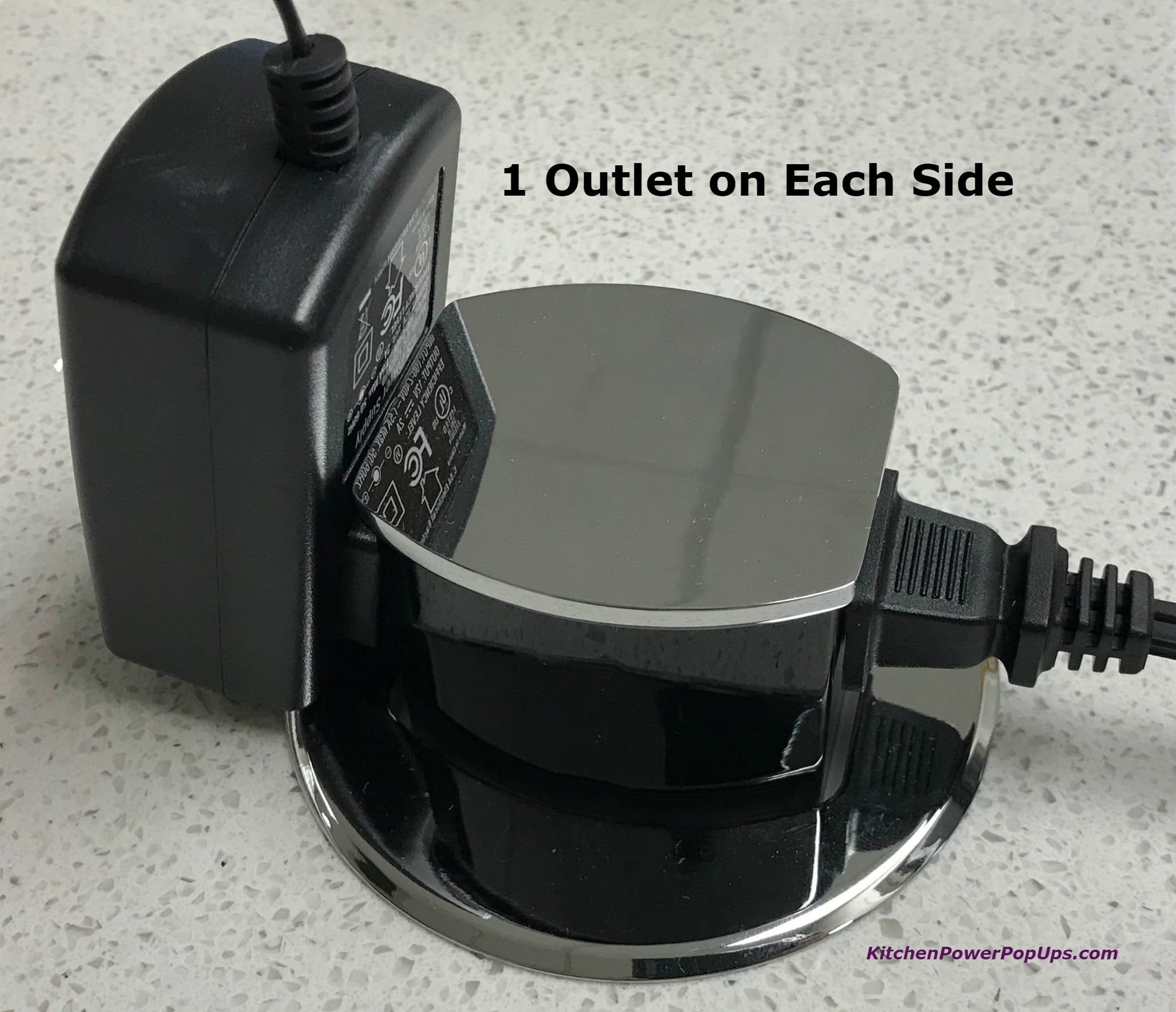 Countertop 2 Sided Spill Proof Pop Up 15a Outlet Surface Mount