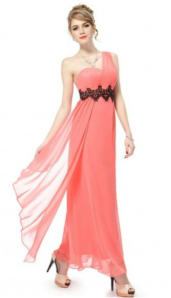 Empire One-shoulder Ankle-length Bridesmaid Dress With Lace ...