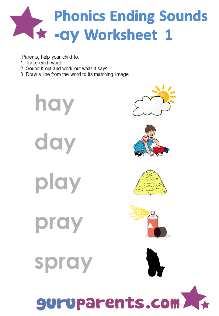 5 letter words ending in ay phonics worksheets ending sound ay this is one sounds 26097 | 1f74d0e5c085da7d27e7be2905560d0e