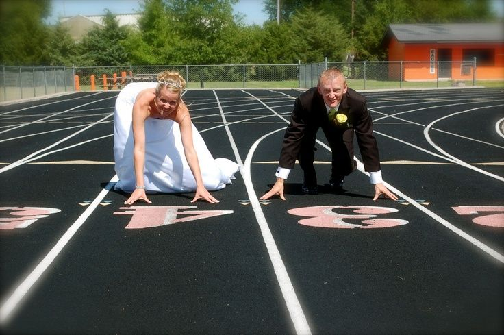 image result for wedding track and field relationships goals