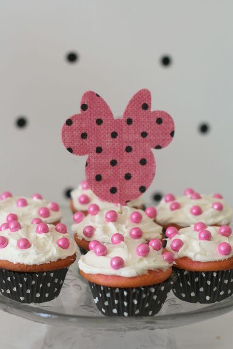 cupcake minnie topper