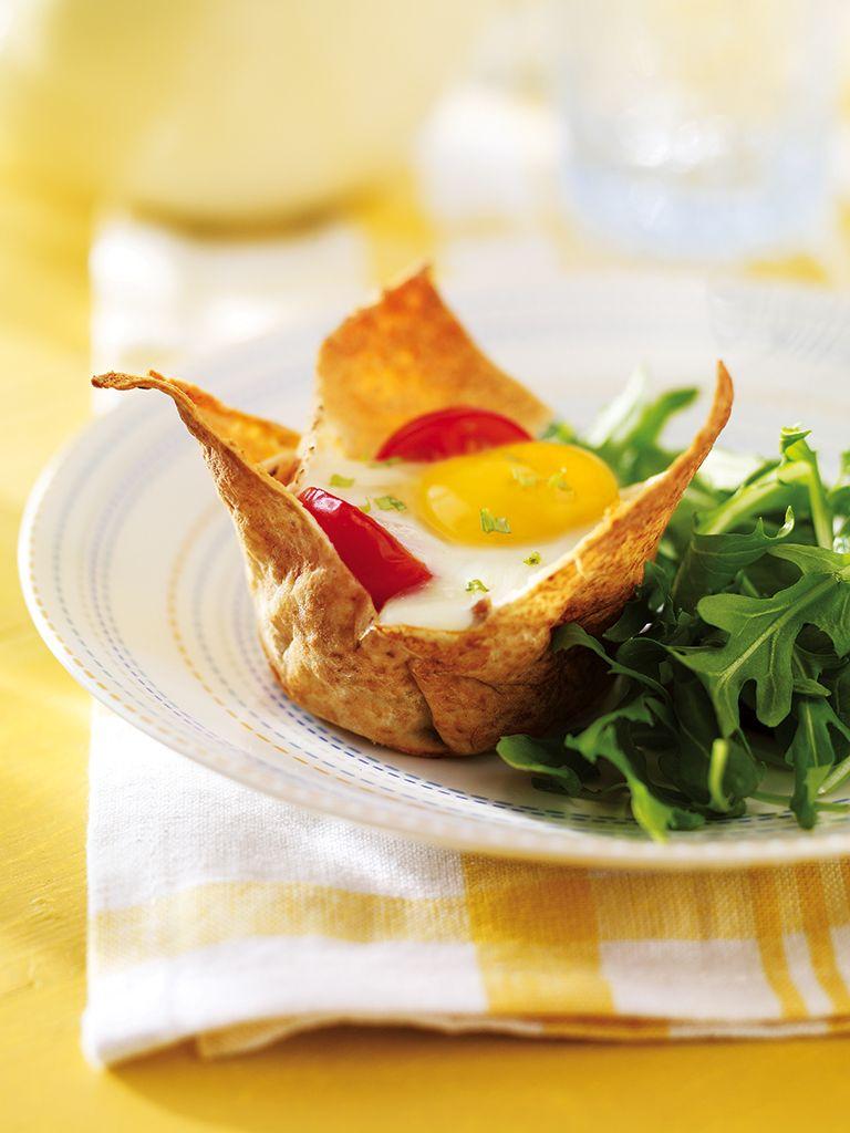 Coupelles aux ufs et au canard confit recette brunch - Temps de cuisson magret de canard au four ...