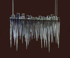 icicle-shelf chandelier<br />Neil Wilkin