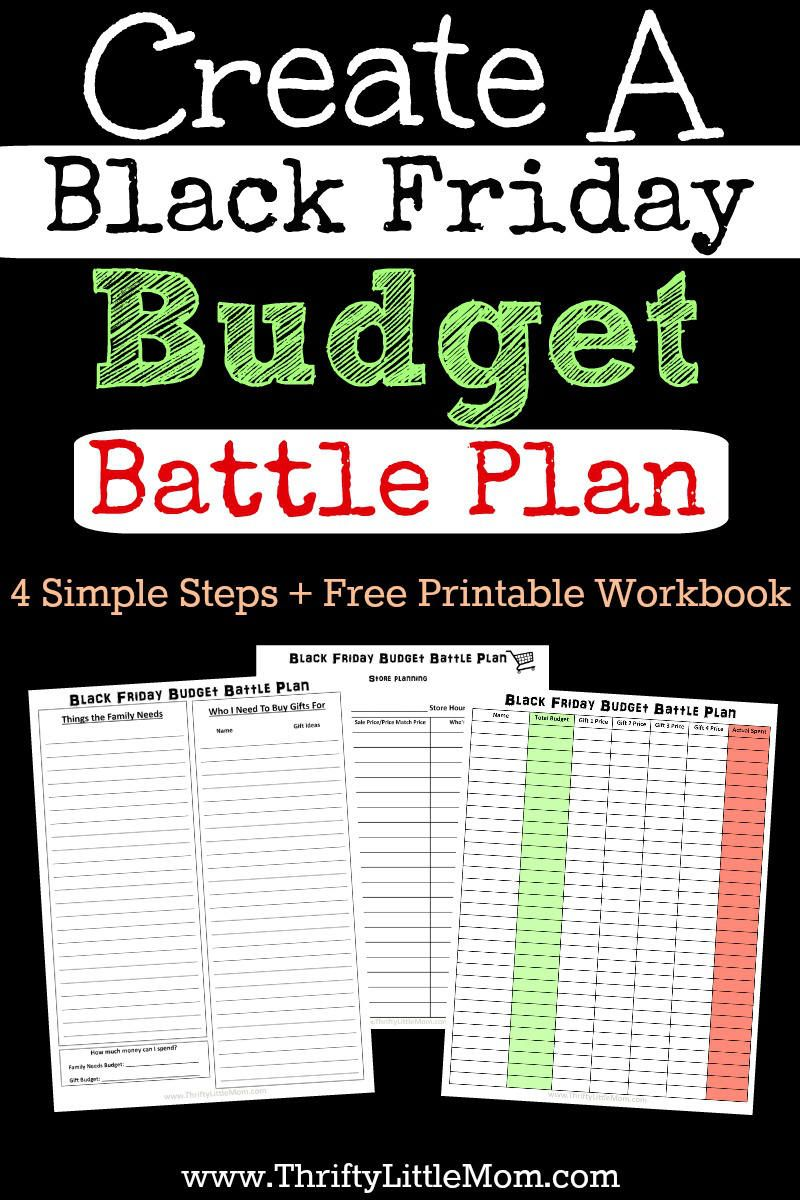 Create A Black Friday Budget Battle Plan Black Friday How To Plan Budgeting