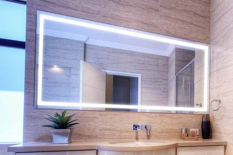Picture Gallery Website Large Bathroom Lighted Mirror