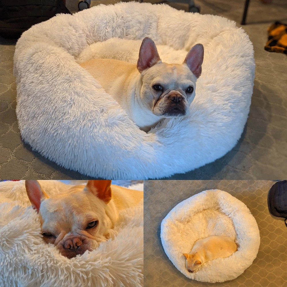 Super Fluffy Dog/Cat Bed Round Plush Fluffy Pet Bed