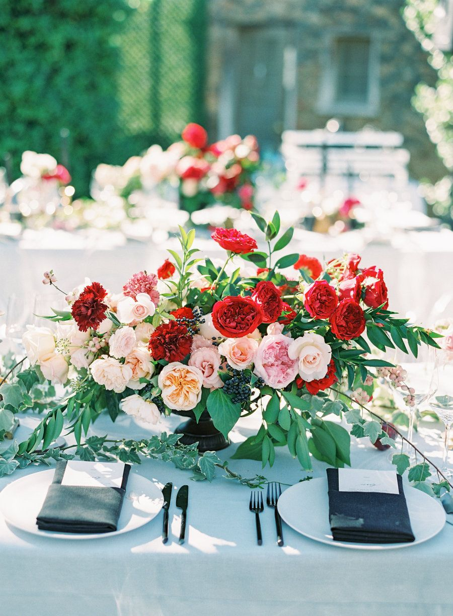 A Dolce & Gabbana Ad Inspired This Real Wedding is part of Poppy red wedding - A Saddlerock Ranch wedding inspired by a Dolce & Gabbana fashion advertisement with a moody, modern vibe