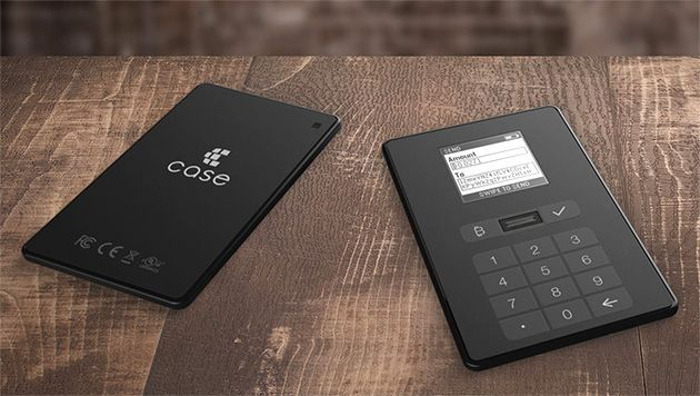 physical wallet for cryptocurrency