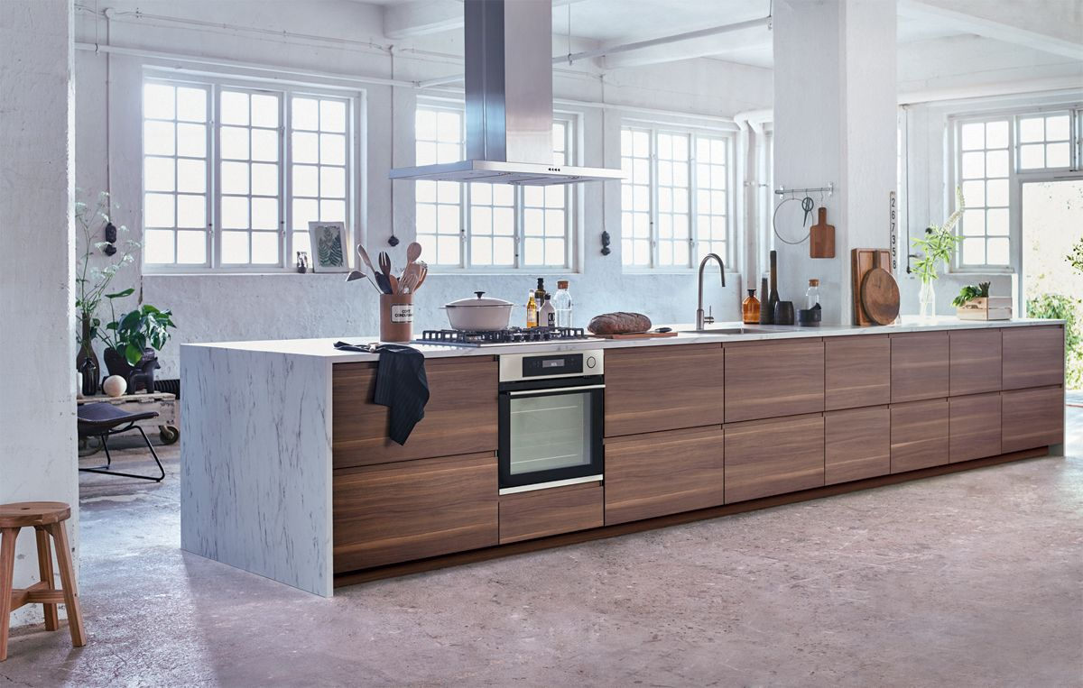 ikea voxtorp walnut kitchen walnut kitchen loft. Black Bedroom Furniture Sets. Home Design Ideas