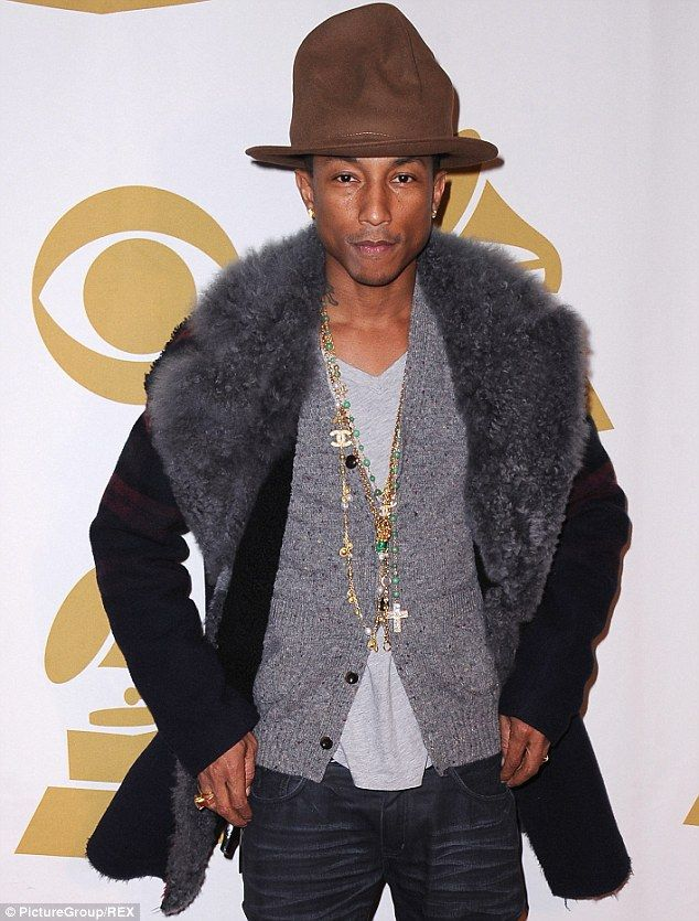 Pharrell Williams steps out in ANOTHER massive fedora in London #dailymail