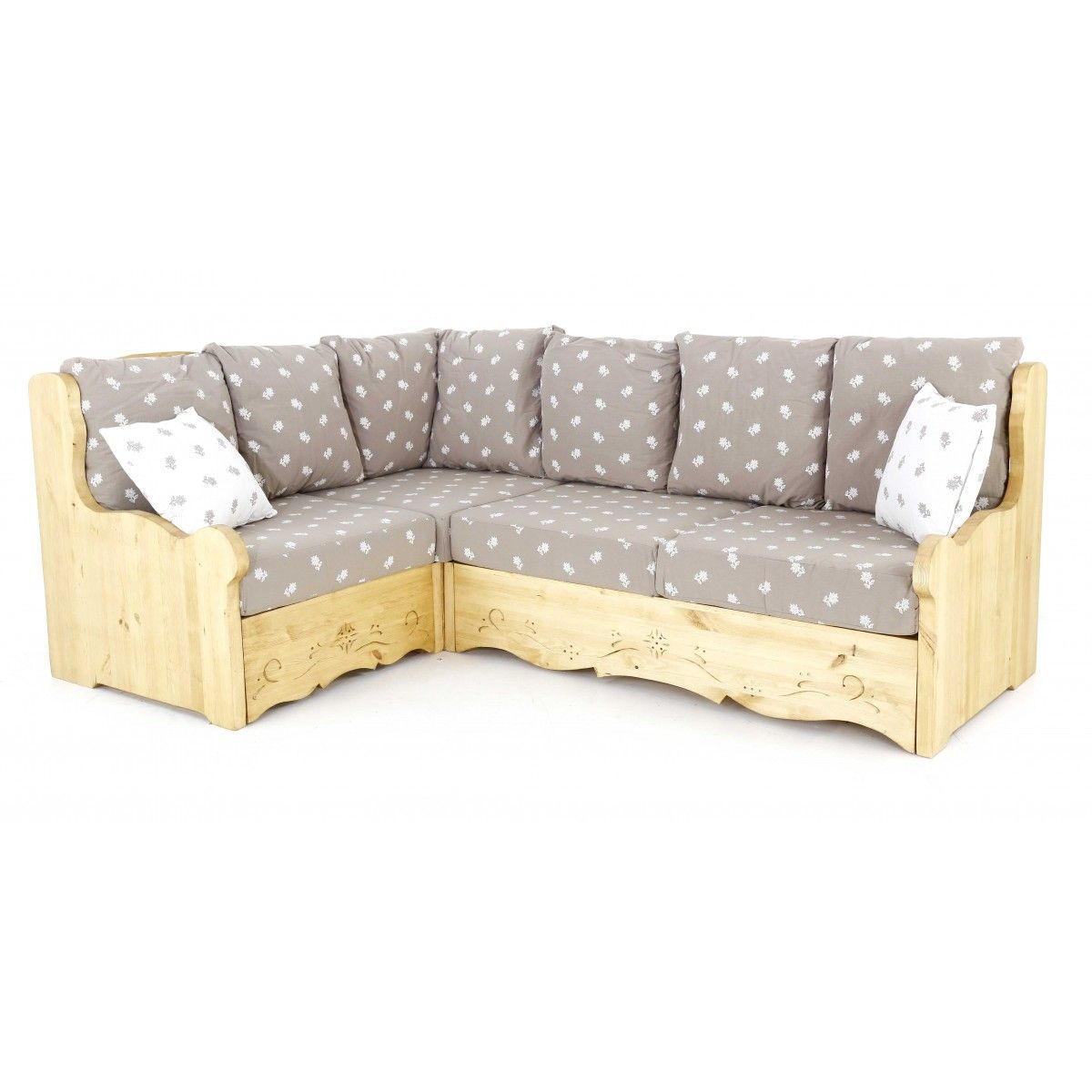 Canape D Angle Coffre Rustique Taupe Edelweiss Canape D Angle Modulable Canape Angle Deco Mezzanine