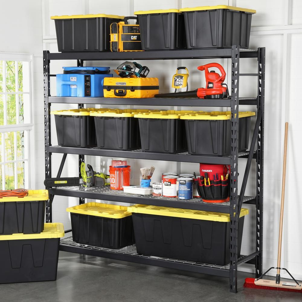 Pin By Walking Woman Co On Backyard Sheds In 2021 Storage Garage Storage Shelves Workbenches Garage Storage Shelves