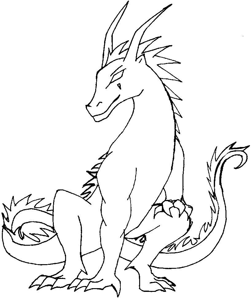 free printable dragon coloring pages for kids - Free Dragon Coloring Pages