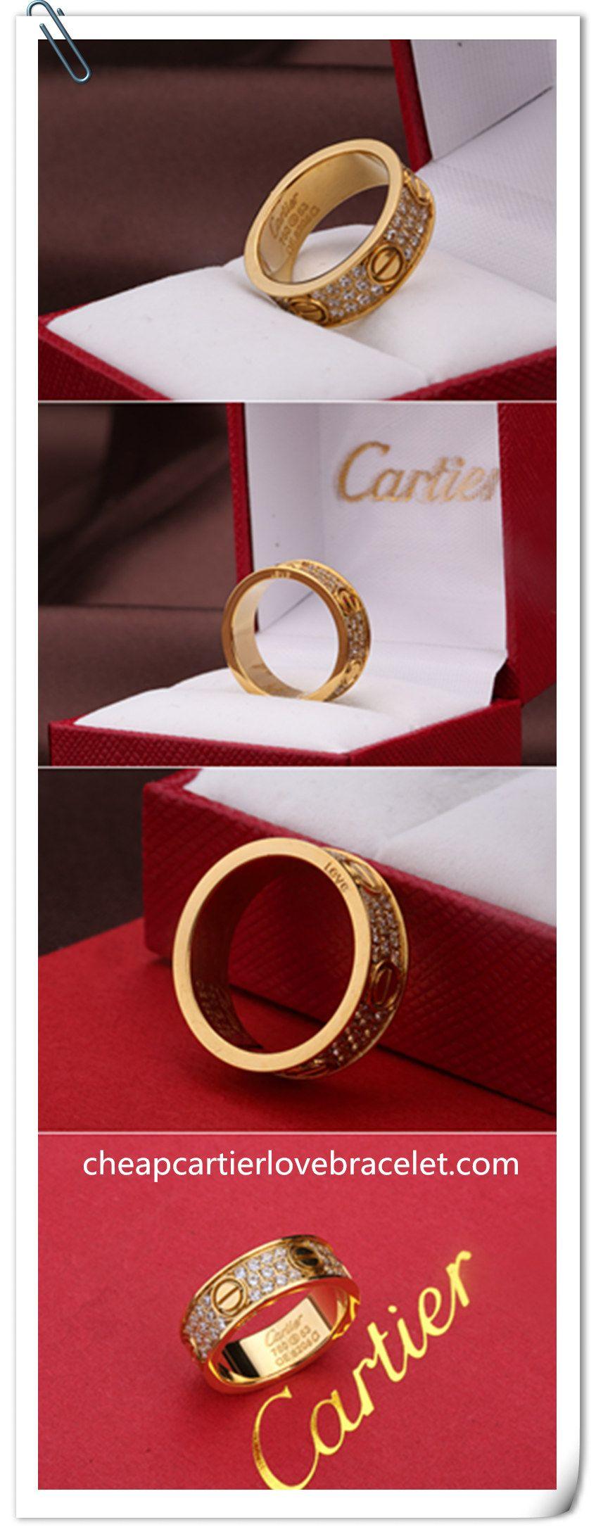 Cartier 18K Yellow Gold Wedding Band Set With Diamonds