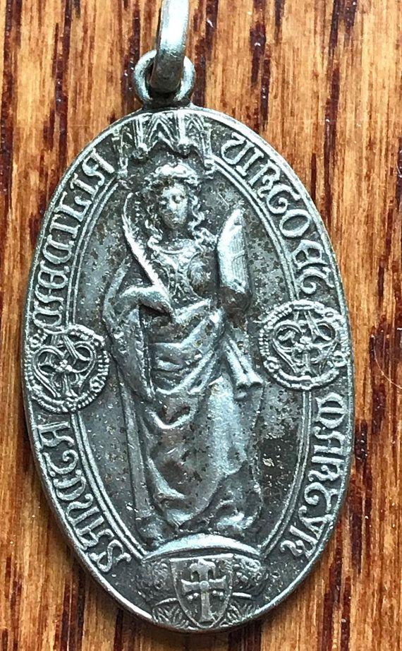 Saint cecilia vintage religious medal pendant on 18 items from saint cecilia vintage religious medal pendant on 18 mozeypictures Choice Image