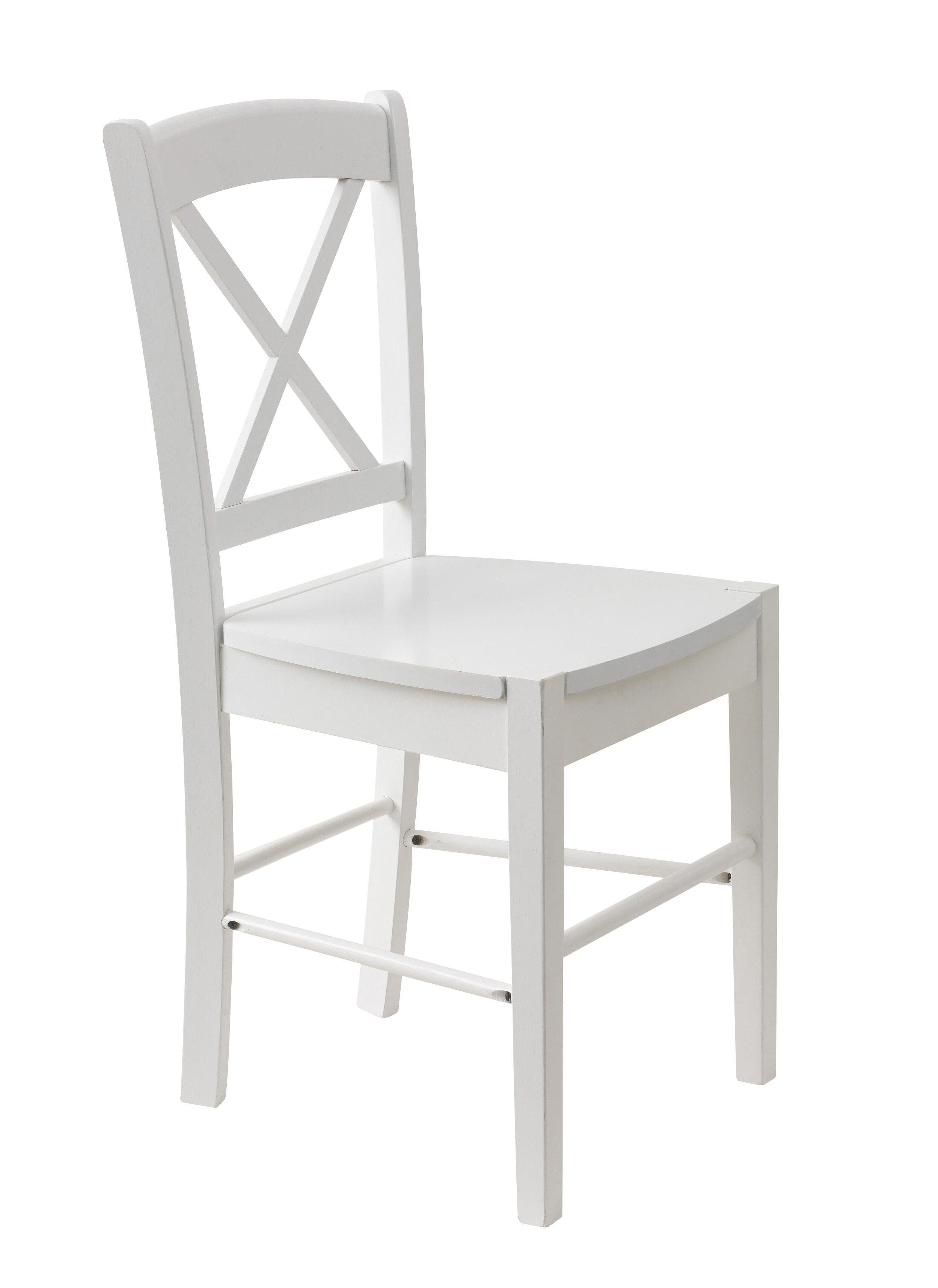 Silla madera blanca silla muebles dormitorio living for Silla blanca patas madera ikea
