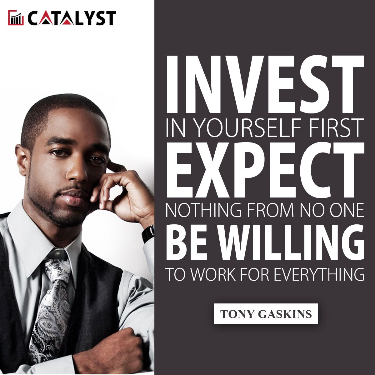 Tony gaskins invest in yourself first expect nothing from no one explore do it yourself investing and more solutioingenieria Images