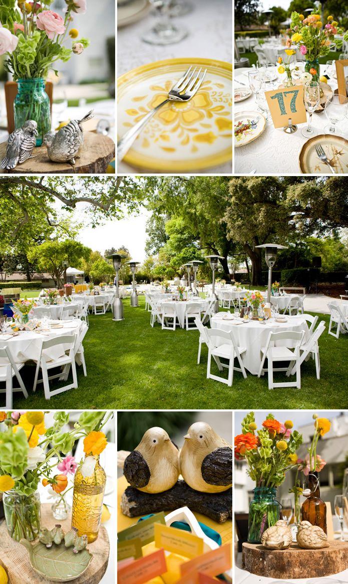 santa fe california wedding centerpieces wedding table