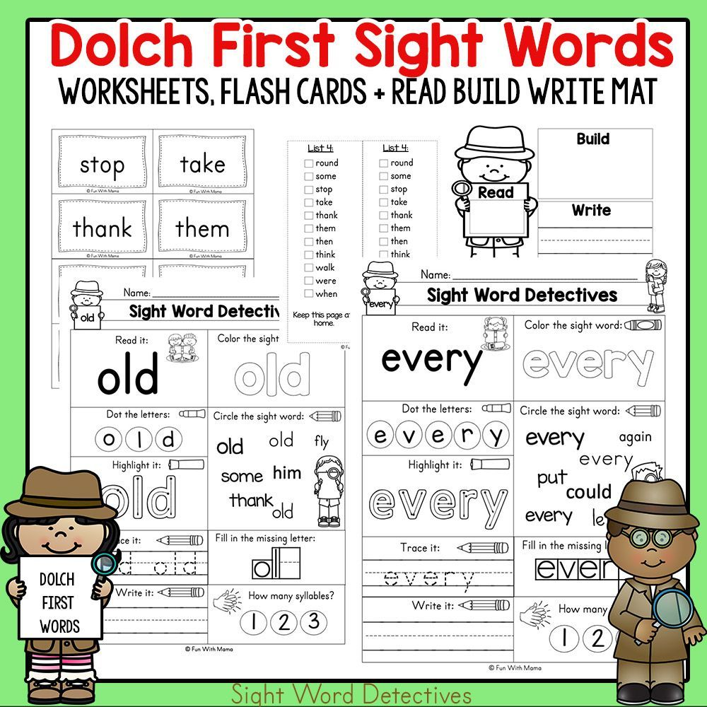 First Grade Sight Words Worksheets And Activities First Grade Sight Words Sight Word Worksheets Sight Words
