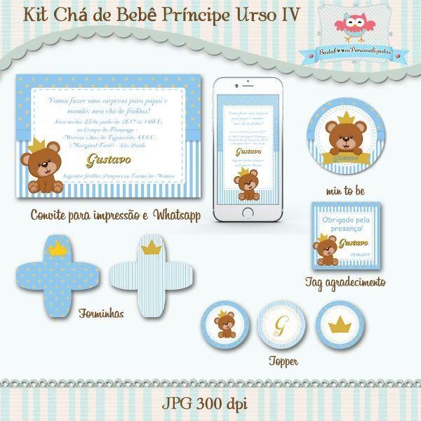 Kit Chá De Bebê Príncipe Urso Iv Chá De Bebêfralda Pinterest